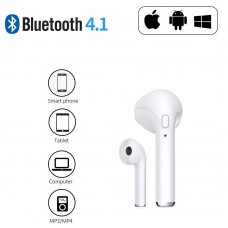 Bluetooth Headphone iPhone + Samsung white