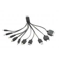 USB charge cable 10 in 1 compatible with most devices