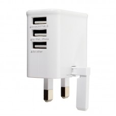 UK Universal wall charger with 3 USB ports