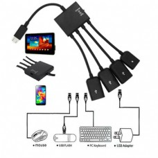 Micro USB OTG 4 way HUB