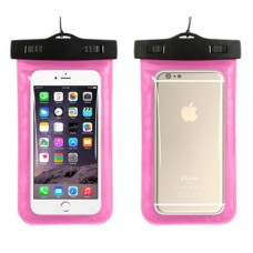 Waterproof phone case with lanyard Pink