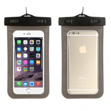 Waterproof phone case with lanyard Black