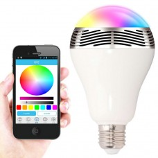 Bluetooth LED lamp 6W E27 speaker RGB colour
