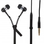 """Zipper"" Headphones with microphone Black"