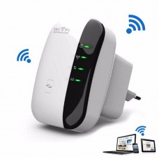 WiFi Repeater 300Mbps 2.4GHz Booster Repeater Ap Wps Encryption