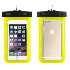 Waterproof phone case with lanyard Yellow
