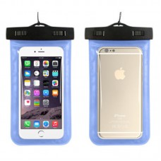 Waterproof phone case with lanyard Light Blue