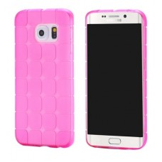 3D square silicone case for Samsung S6 Edge Plus Pink