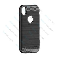 Back Case Carbon Apple iPhone XR black