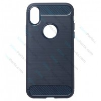 Back Case Carbon Apple iPhone XS Max dark blue