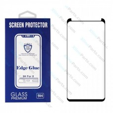 Tempered Glass Edge Glue Samsung S8 Plus G955 black (Case Friendly)