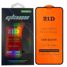 Tempered Glass 21D Apple iPhone 12 Mini black