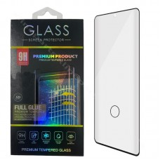 Tempered Glass Full Glue Hole FingerPrint Samsung Note 10 N970 black