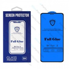Tempered Glass Full Glue Samsung A80 A805 black
