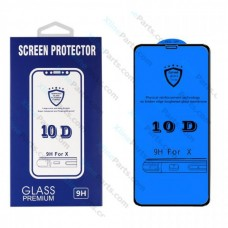 Tempered Glass 9D Samsung A10 A105 black