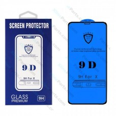 Tempered Glass 9D Samsung A41 A415 black