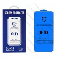 Tempered Glass 9D Samsung A6 (2018) A600 white