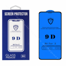 Tempered Glass 9D LG G6 H870 black