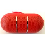 "mini Bluetooth ""capsule"" Led speaker Red"