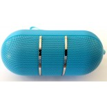 "mini Bluetooth ""capsule"" Led speaker Blue"